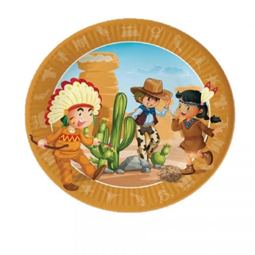 Boite à fête Indiens et Cowboys