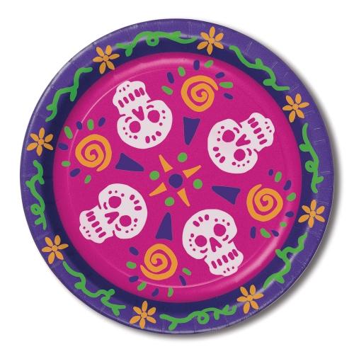 Grande Boîte à Fête Tête de Mort Mexicain