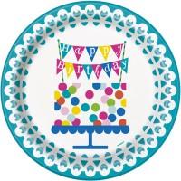 Thème anniversaire Happy Birthday Confetti pour l'anniversaire de votre enfant