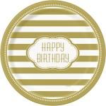Thème anniversaire Happy Birthday Gold pour l'anniversaire de votre enfant