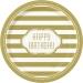 Grande  boîte à fête Happy Birthday Gold. n°1
