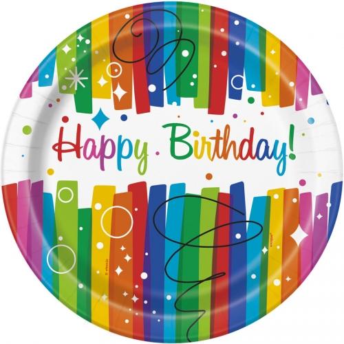Grande boîte à fête Happy Birthday Rainbow