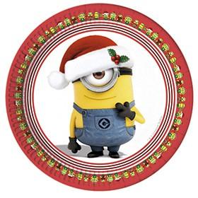 Grande boîte à fête Minions Christmas