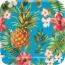 Contient : 1 x 8 Assiettes Aloha Ananas