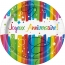 Contient : 1 x 8 Assiettes Joyeux Anniversaire Rainbow