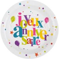 Thème anniversaire Joyeux Anniversaire Multicolore pour l'anniversaire de votre enfant