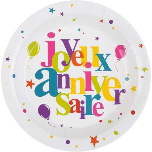 Maxi Boîte à Fête Joyeux Anniversaire Multicolore