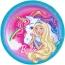 Contient : 1 x 8 Assiettes Barbie Licorne