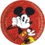 Contient : 1 x 8 Assiettes Mickey Super Cool