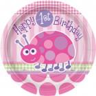 Maxi boîte à fête First Birthday Coccinelle Rose