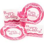 Thème anniversaire Happy Birthday Girly pour l'anniversaire de votre enfant
