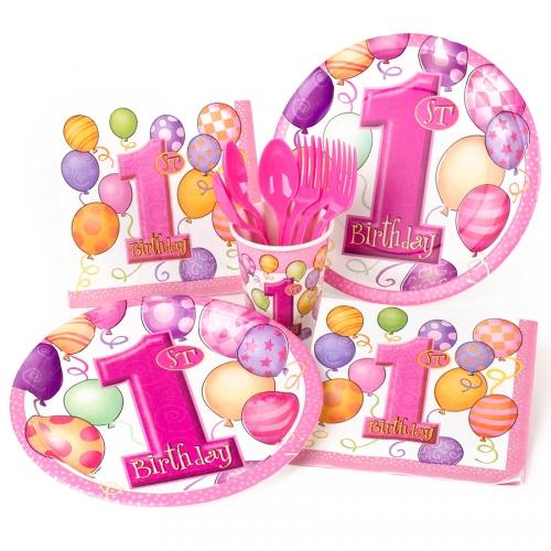Boîte invité supplémentaire anniversaire 1 an fille
