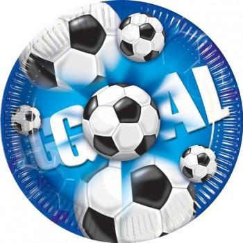 Maxi boîte à fête Goal Bleu