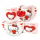 Bo�te invit� suppl�mentaire Hello Kitty Coeur rouge