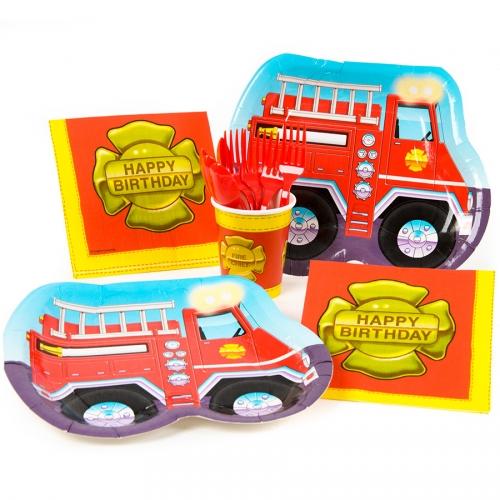 Maxi boîte à fête Pompier
