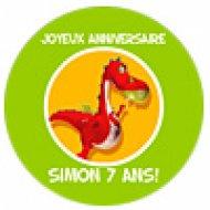 Simon le Dragon (fotocroc rond)
